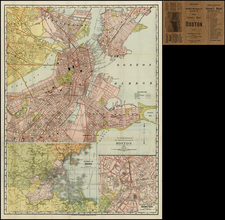 New England and Massachusetts Map By Rand McNally & Company
