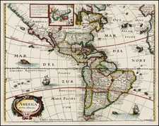 South America and America Map By Matheus Merian