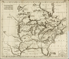 United States, Southeast, Midwest and Plains Map By J.F. Bernard