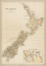 New Zealand Map By Blackie & Son