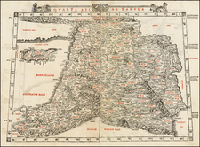 Middle East, Holy Land, Turkey & Asia Minor and Balearic Islands Map By Bernardus Sylvanus