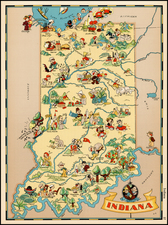 Midwest Map By Ruth Taylor White