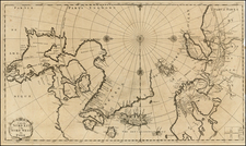 Russia, Scandinavia, Iceland, Balearic Islands and Canada Map By J.F. Bernard