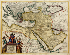 Turkey, Mediterranean, Middle East and Turkey & Asia Minor Map By Matthaus Merian