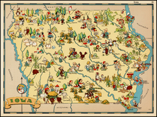 Midwest and Plains Map By Ruth Taylor White