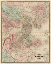New England Map By Alvin Jewett Johnson