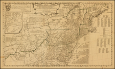 New England, Southeast and Midwest Map By Lewis Evans / Thomas Pownall