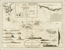 Atlantic Ocean, Portugal and Balearic Islands Map By Richard Holmes Laurie  &  James Whittle