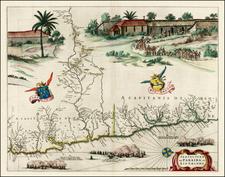 Brazil Map By Gaspar Barleus / Johannes Blaeu