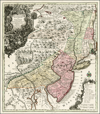 Mid-Atlantic Map By Matthaus Seutter
