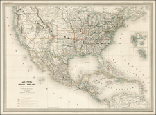 United States and Rocky Mountains Map By Adolphe Hippolyte Dufour