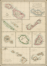 Atlantic Ocean, Indian Ocean, Hawaii, Balearic Islands, Other Islands, African Islands, including Madagascar, Pacific and Hawaii Map By Edward Weller