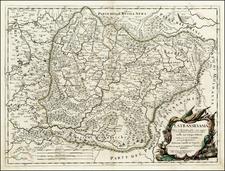 Romania Map By Giacomo Giovanni Rossi