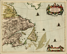 New England and Canada Map By Johannes Covens  &  Cornelis Mortier