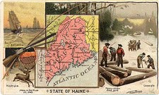 New England Map By Arbuckle Brothers Coffee Co.