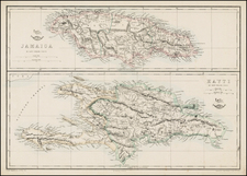 Caribbean Map By Edward Weller