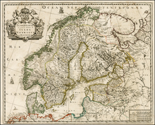 Baltic Countries and Scandinavia Map By Pierre Mariette