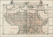Africa, Egypt, North Africa, East Africa and West Africa Map By Bernardus Sylvanus