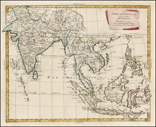 India, Southeast Asia and Philippines Map By Antonio Zatta