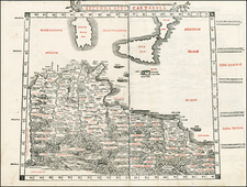 Europe, Mediterranean, Balearic Islands, Africa and North Africa Map By Bernardus Sylvanus