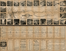 Midwest, Plains, Southwest, Rocky Mountains and California Map By Central Pacific Railroad