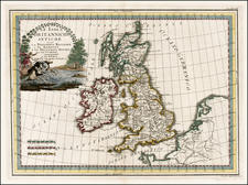 British Isles Map By Giovanni Maria Cassini