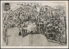 Italy and Other Italian Cities Map By Pietro Bertelli
