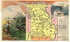 Midwest, Plains and Missouri Map By Arbuckle Brothers Coffee Co.