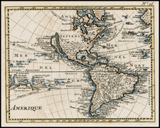 Western Hemisphere, South America, Australia & Oceania, Oceania and America Map By Anonymous