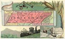 Tennessee Map By Arbuckle Brothers Coffee Co.