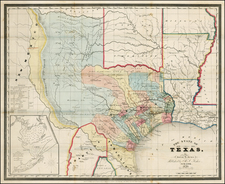 Texas Map By David Hugh Burr