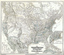 United States, Southwest, Rocky Mountains and Canada Map By Heinrich Keipert