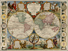 World, World and Celestial Maps Map By Jean-Baptiste Nolin / Louis Denis