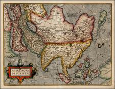 Asia, Asia, Australia & Oceania and Oceania Map By Abraham Ortelius