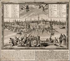 Italy and Venice Map By Friederich Bernhard Werner / Martin Engelbrecht