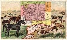 Plains, Rocky Mountains and Wyoming Map By Arbuckle Brothers Coffee Co.