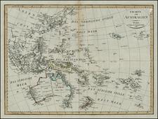 Australia & Oceania, Australia and Oceania Map By Weimar Geographische Institut