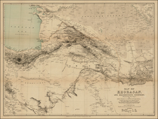 Central Asia & Caucasus and Middle East Map By Royal Geographical Society