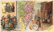 Mid-Atlantic and New Jersey Map By Arbuckle Brothers Coffee Co.