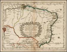 Brazil Map By Nicolas Sanson