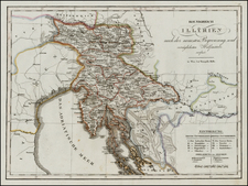 Austria and Balkans Map By Tranquillo Mollo
