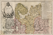 Russia Map By Maurille Antoine Moithey / Jean-Baptiste Crepy