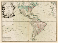 South America and America Map By Jean Janvier / Jean Lattré