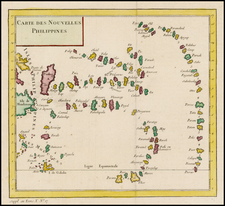 Philippines, Other Islands and Other Pacific Islands Map By Jacques Nicolas Bellin