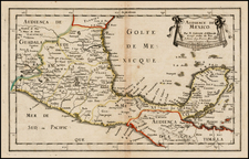 Mexico and Central America Map By Nicolas Sanson