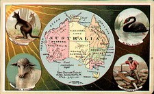 Australia & Oceania and Australia Map By Arbuckle Brothers Coffee Co.
