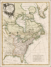 United States, North America and Canada Map By Jean Lattré