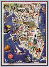 Florida Map By Berta and Elmer Hader