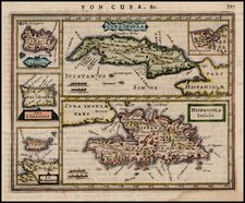 Caribbean, Cuba and Hispaniola Map By Jan Jansson