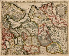 Russia Map By Johannes Covens  &  Cornelis Mortier